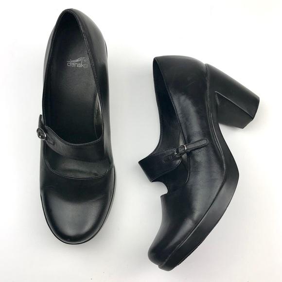 bbe24022e110 Dansko Shoes - Dansko Black Tara Leather Mary Janes Heels 39